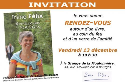 Rendez-vous avec Bourges, Bourges, Irène Félix, livre, La Bouinotte, La Moulonnière